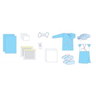 Комплект одягу та покриттів операційних акушерський № 20 стерильний