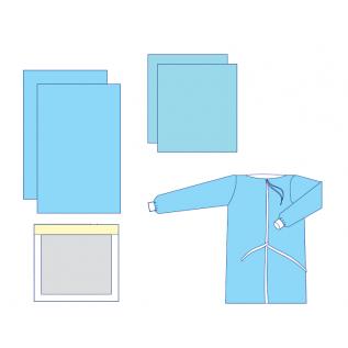 Комплект одягу та покриттів операційних акушерський №1 стерильний