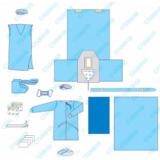 Комплект одягу та покриттів операційних акушерський № 32 стерильний