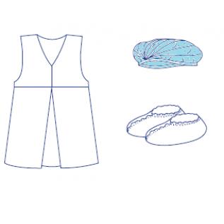 Комплект одягу акушерський №13 стерильний