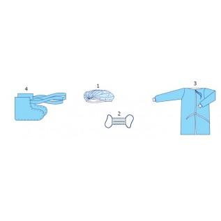 Комплект одягу  акушерський для партнерських пологів № 1 стерильний