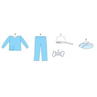 Комплект одягу  акушерський для партнерських пологів № 3 стерильний