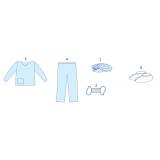 Комплект одягу акушерський для партнерських пологів №4 «Славна®» нестерильний