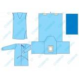 Комплект одягу та покриттів операційних для гінекологічних операцій (гістероскопія) №5 стерильний