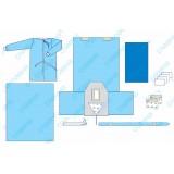 Комплект одягу та покриттів операційних для гінекологічних операцій №8 стерильний