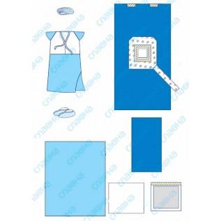 Комплект одягу та покриттів операційних для Кесаревого розтину № 1 стерильний