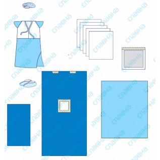 Комплект одягу та покриттів операційних для Кесаревого розтину № 7 стерильний
