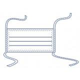 Маска медична тришарова на зав`язках в упаковці по 100 шт. стерильна