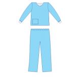 Костюм медичний з довгим рукавом на манж (сорочка медична,брюки медичні) (р.50-52 (L)) (спанлейс) ст