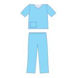 Костюм медичний з коротким рукавом (сорочка медична, брюки медичні )(розмір 54-56(ХL))(спанлейс)ст.