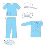 Комплект одягу хірургічний №1 (L) стерильний