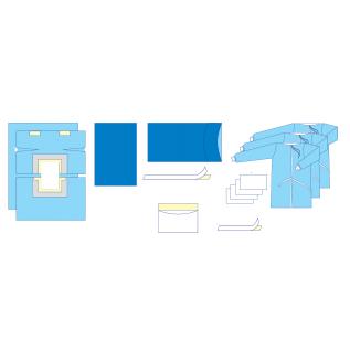 """Комплект одягу та покриттів операційних  для лапаротомії  №2/В """"Славна®"""" стерильний"""