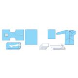 Комплект одягу та покриттів операційних  для урології (цистоскопія)  № 4 стерильний