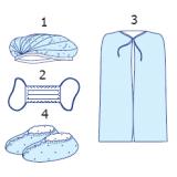 """Комплект одягу для відвідувача № 1 """"Славна®"""" стерильний"""