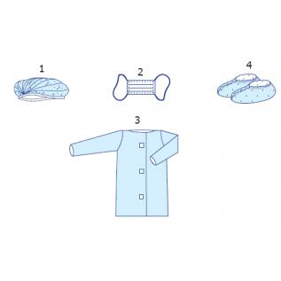 """Комплект одягу для відвідувача № 6 """"Славна®"""" стерильний"""