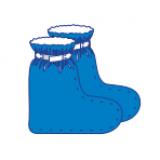 Бахіли медичні високі на липучках (спанбонд) стерильні