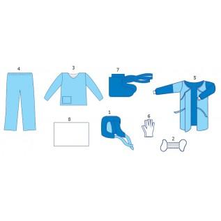 Комплект одягу протиепідемічний № 2 (для роботи зі збудниками 3-4 груп патогенності: черевний тиф, д